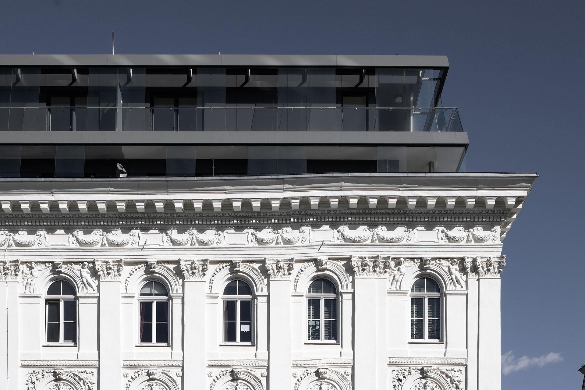 AVEST - Immobilie in der Börsegasse 10, 1010 Wien. Blick auf den Dachgeschoßausbau