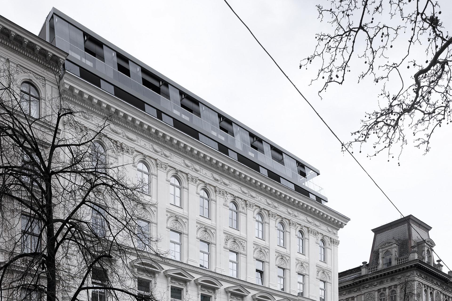 AVEST - Immobilie in der Börsegasse 10, 1010 Wien. Blick vom Straßenniveau