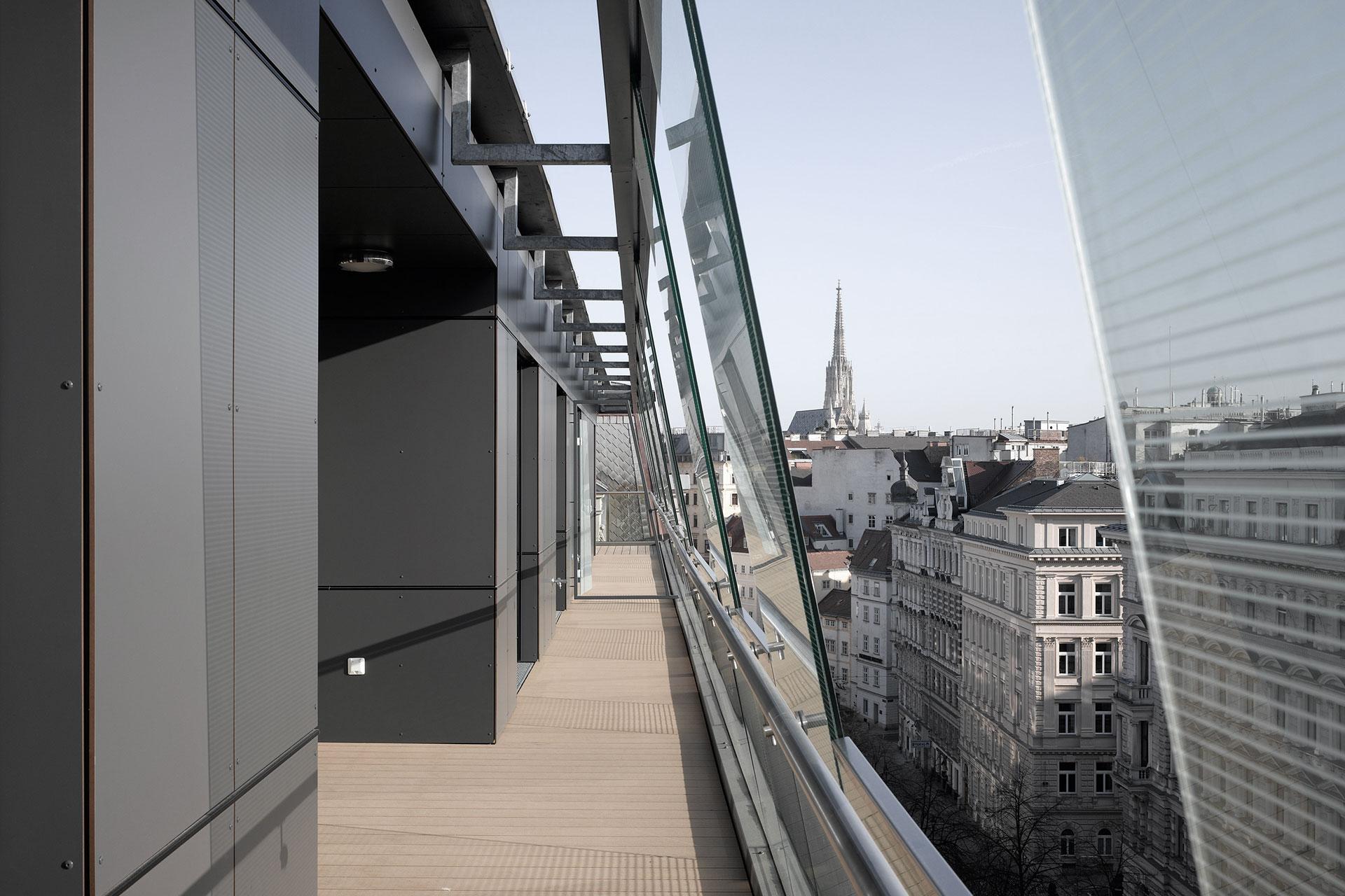 AVEST - Immobilie in der Börsegasse 10, 1010 Wien. Aussicht von der Terrasse