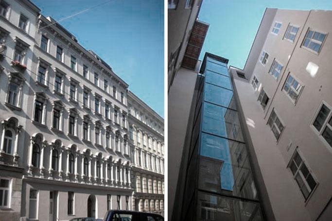 AVEST Immobilie in der Ramperstorffergasse 27, 1050 Wien. Dachgeschoßausbau mit Aufzugseinbau und Sanierung der allg. Teile des Hauses.