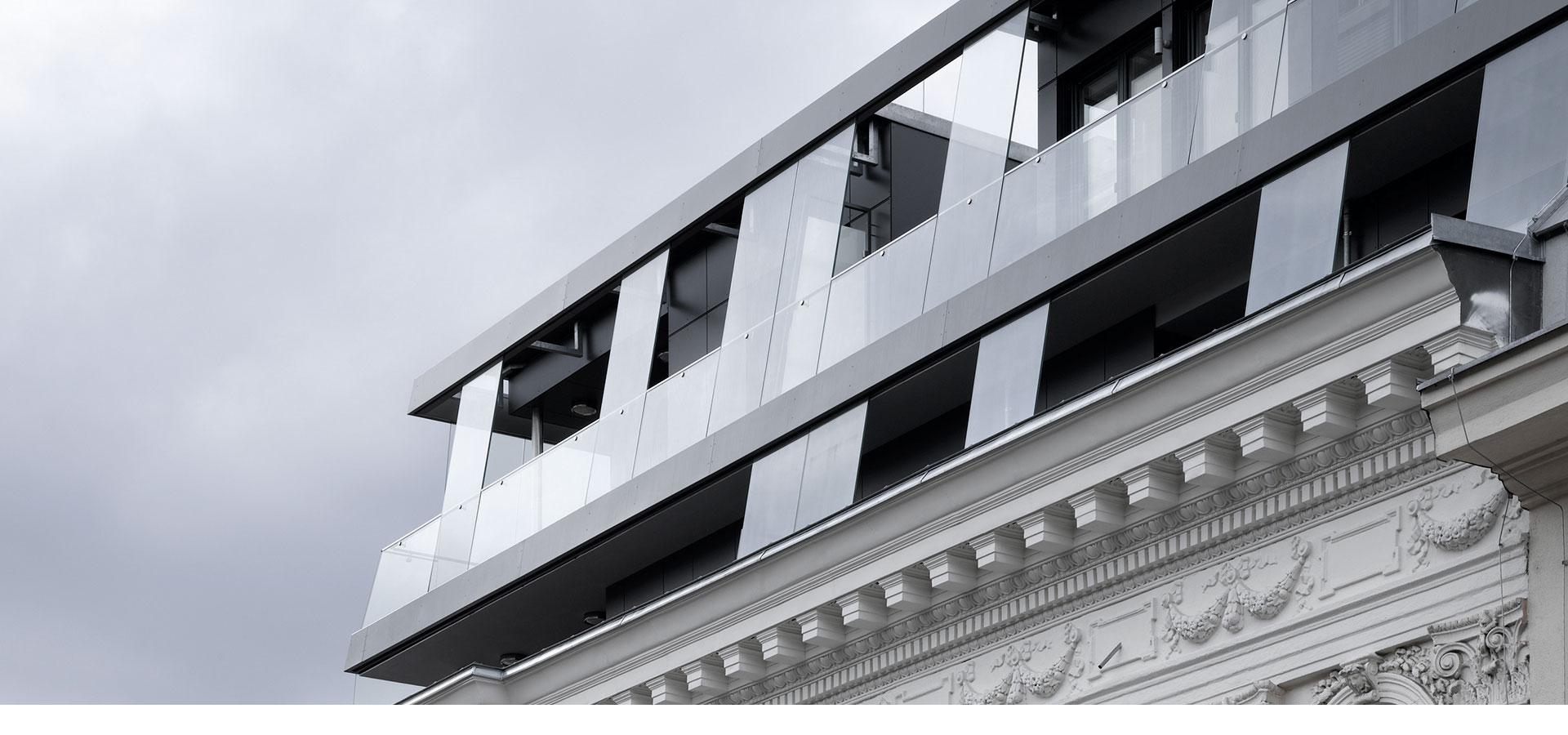 AVEST - Immobilie in der Börsegasse 10, 1010 Wien. Dachgeschoßausbau mit Terrassen auf 2 Ebenen und Neufundierung des gesamten Hauses.