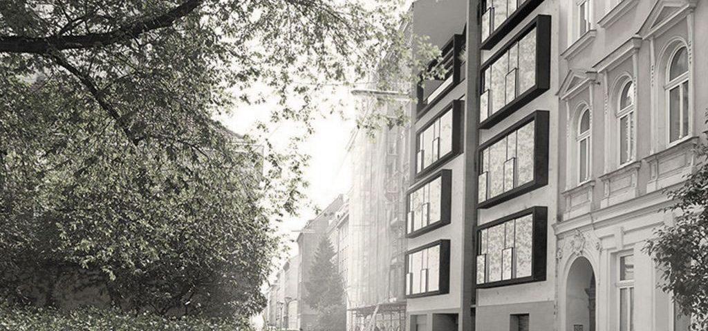AVEST Immobilie in der Gaullachergasse 55, Rendering der Außenfasade