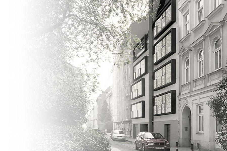 AVEST - Immobilie in der Gaullachergasse 55, Rendering der Außenfasade
